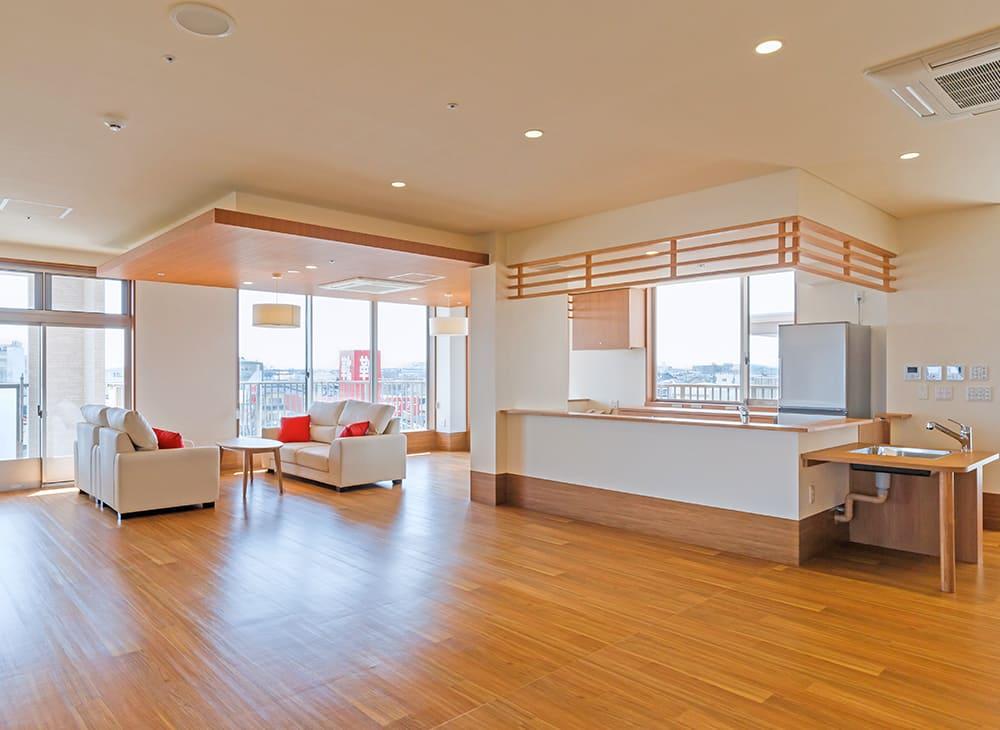 特別養護老人ホーム イル・ヴィラージュ 4階 共同生活室(王子建設施工)