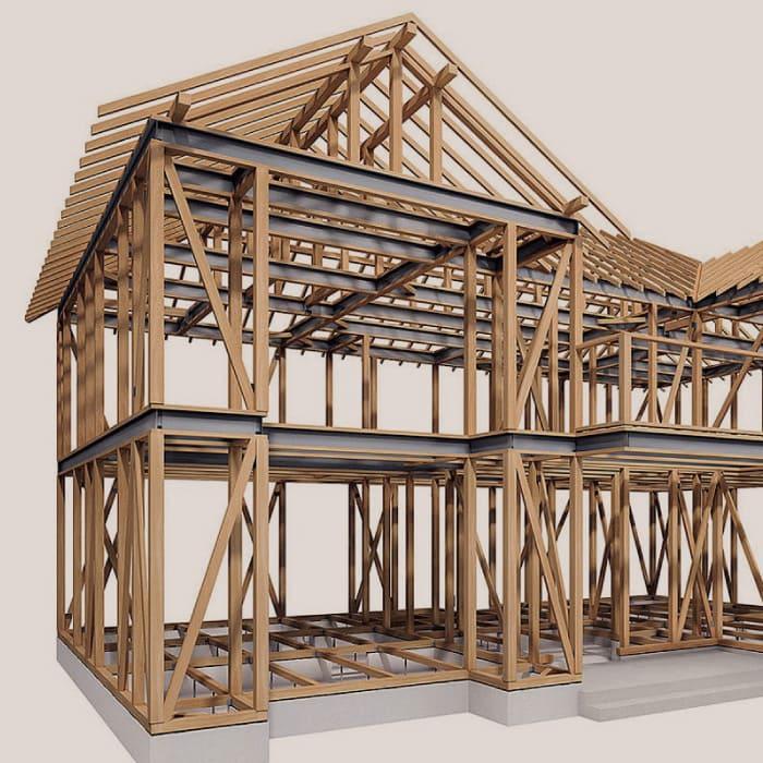 木材と鉄を組み合わせた テクノストラクチャーのご紹介