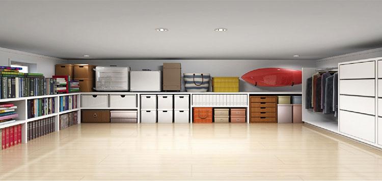 狭い面積でも広い収納スペースを確保