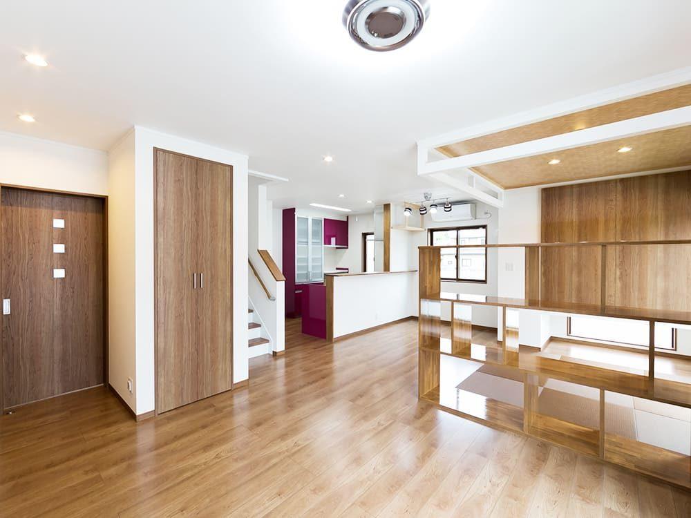 王子建設 個人住宅施工事例 リビング