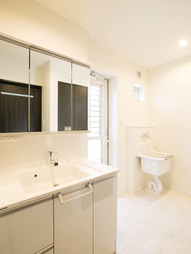 王子建設 個人住宅施工事例 洗面室