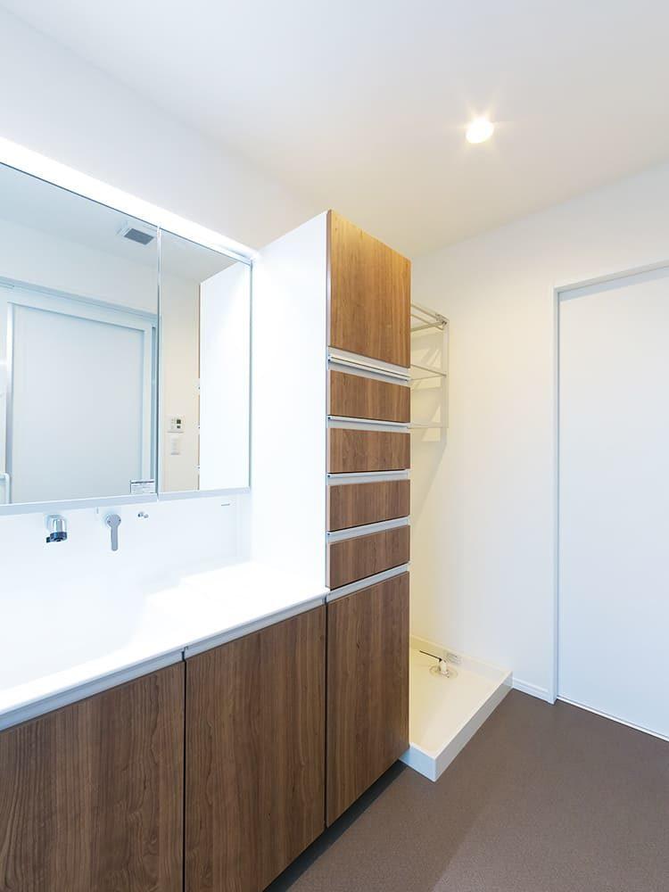 王子建設 個人住宅施工事例 洗面脱衣室