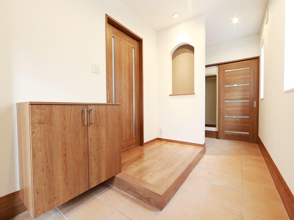 王子建設 個人住宅施工事例 玄関