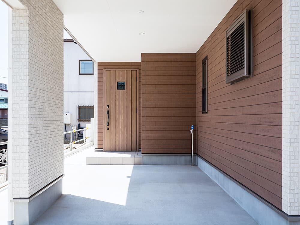 王子建設 個人住宅施工事例 入口